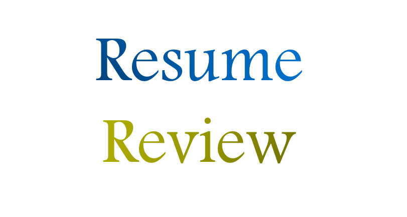 Resume Writing and Interview Coaching